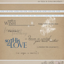 So This is Love Word Art by Sahlin Studio