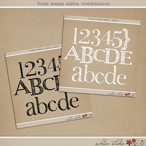 Foam Stamp Alpha: Combination by Sahlin Studio