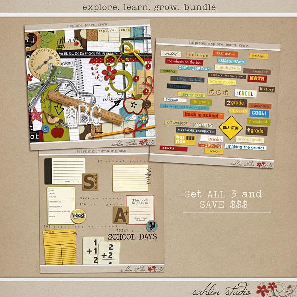 Explore Learn Grow Bundle by Sahlin Studio