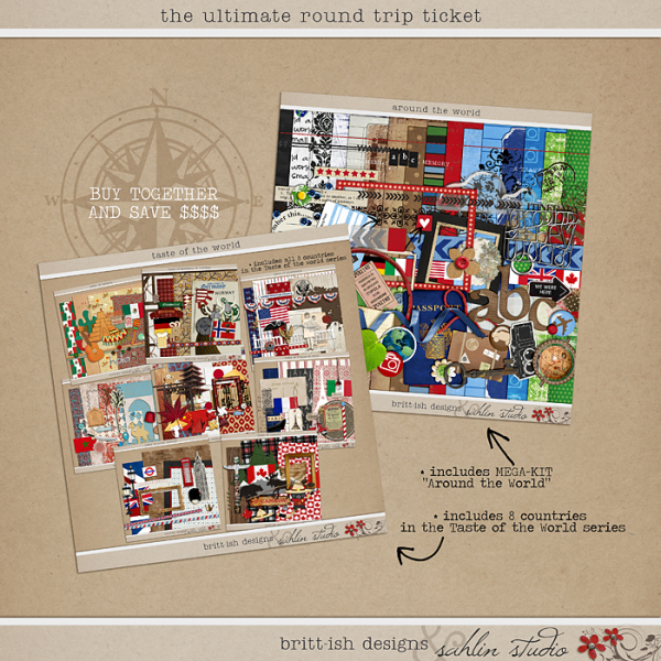 The Ultimate Round Trip Ticket Bundle by Britt-ish Designs and Sahlin Studio