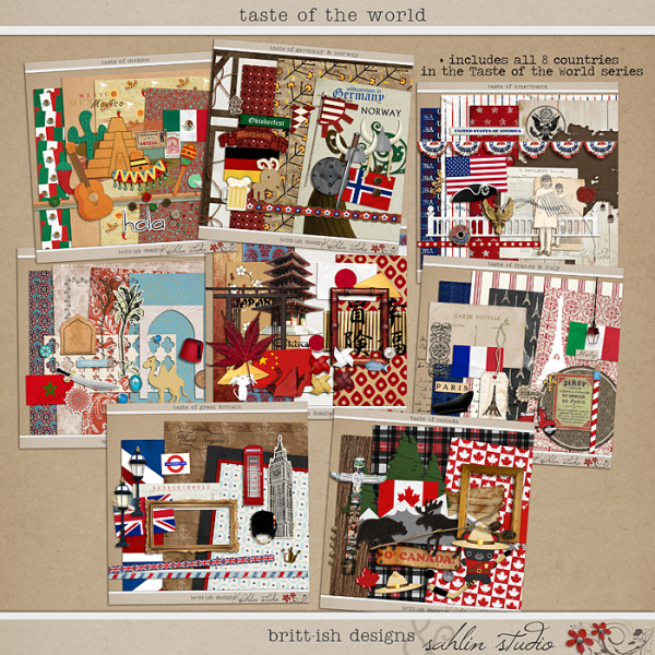 Taste of the World Bundle by Britt-ish Designs and Sahlin Studio