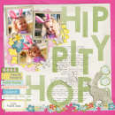layout featuring Watercolor Papers by Sahlin Studio