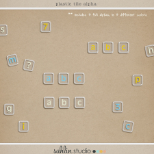 Plastic Tile Alpha by Sahlin Studio