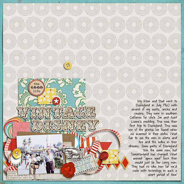 "Digital Scrapbook page created by 4noisyboys featuring ""Vintage Carnival"" by Sahlin Studio"