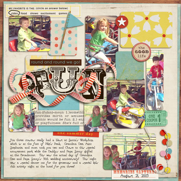 "Digital Scrapbook page created by alamama featuring ""Vintage Carnival"" by Sahlin Studio"