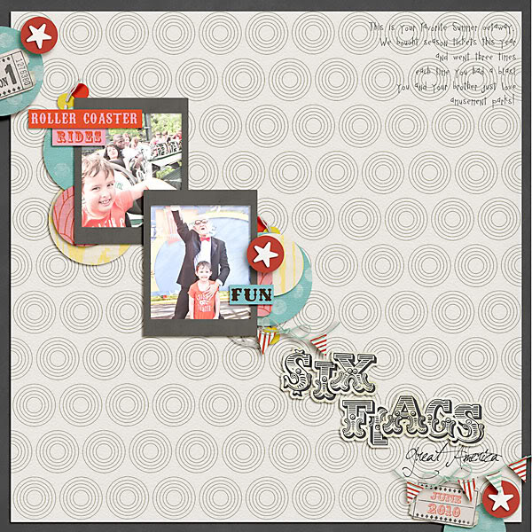 "Digital Scrapbook page created by carolee featuring ""Vintage Carnival"" by Sahlin Studio"