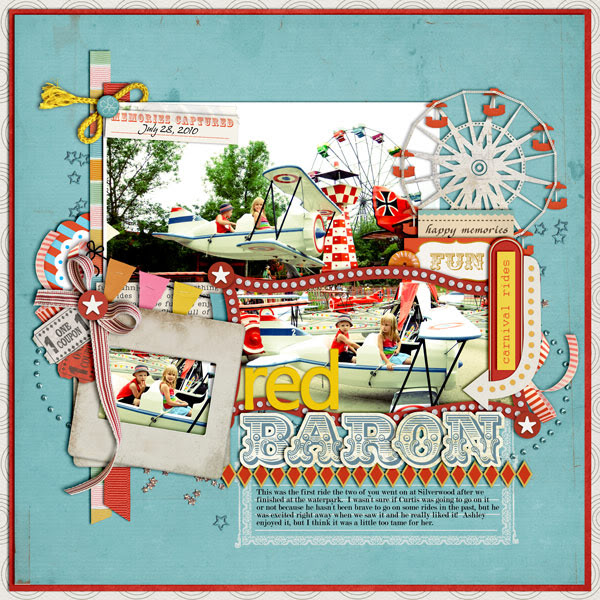 "Digital Scrapbook page created by cindy featuring ""Vintage Carnival"" by Sahlin Studio"