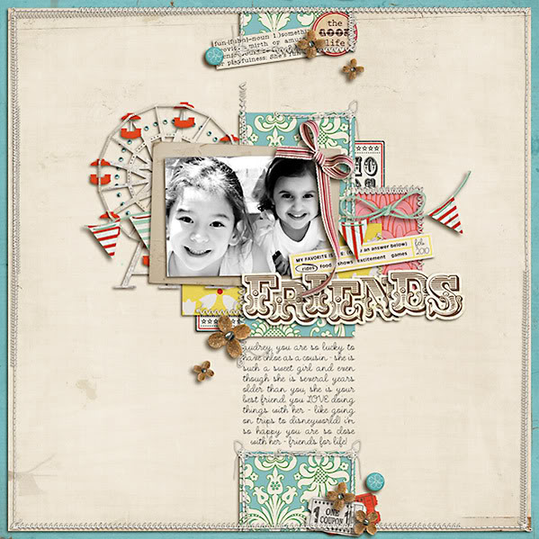 "Digital Scrapbook page created by dana featuring ""Vintage Carnival"" by Sahlin Studio"
