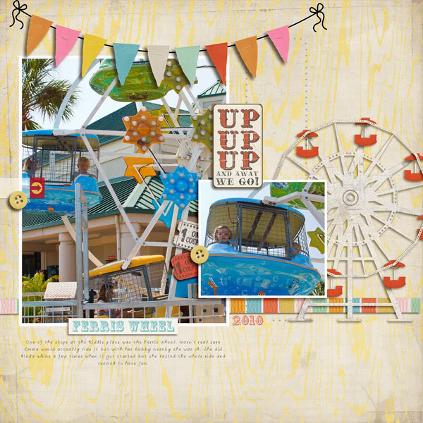 "Digital Scrapbook page created by gracielou featuring ""Vintage Carnival"" by Sahlin Studio"