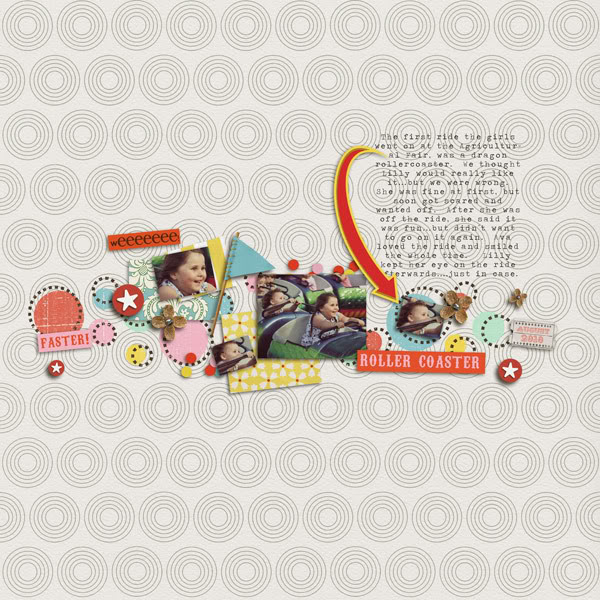 "Digital Scrapbook page created by jennbarrette featuring ""Vintage Carnival"" by Sahlin Studio"