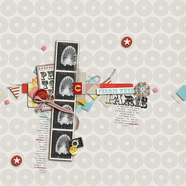 "Digital Scrapbook page created by kelleanne featuring ""Vintage Carnival"" by Sahlin Studio"