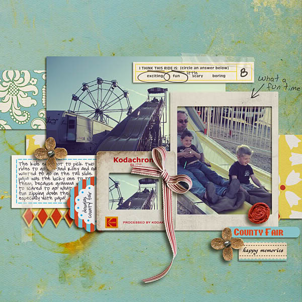 "Digital Scrapbook page created by kristasahlin featuring ""Vintage Carnival"" by Sahlin Studio"