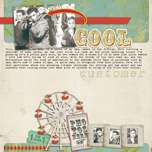 "Digital Scrapbook page created by monsu featuring ""Vintage Carnival"" by Sahlin Studio"