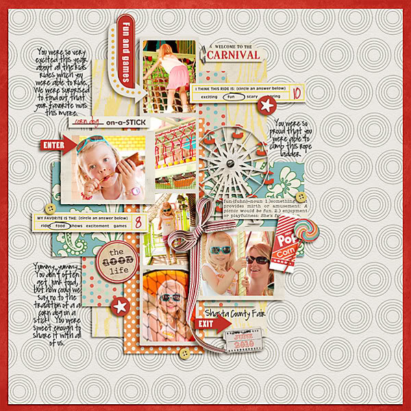 "Digital Scrapbook page created by pne123 featuring ""Vintage Carnival"" by Sahlin Studio"