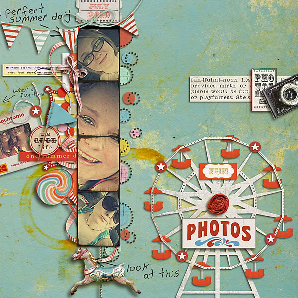 "Digital Scrapbook page created by snaggletooth75 featuring ""Vintage Carnival"" by Sahlin Studio"