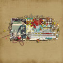 digital scrapbook layout featuring Modern Words: Fall by Sahlin Studio