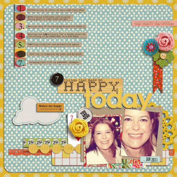 "Digital Scrapbook page created by gevisacri featuring ""Grandma's Dresser"" by Sahlin Studio"