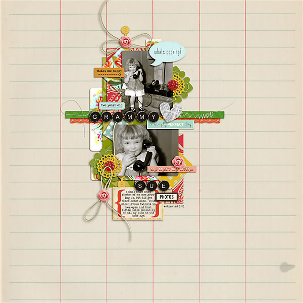 "Digital Scrapbook page created by pne123 featuring ""Grandma's Dresser"" by Sahlin Studio"