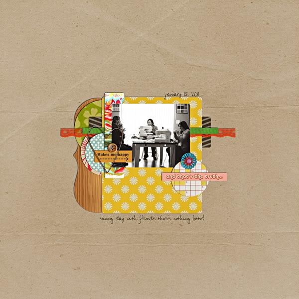 "Digital Scrapbook page created by emilymerritt featuring ""Grandma's Dresser"" by Sahlin Studio"