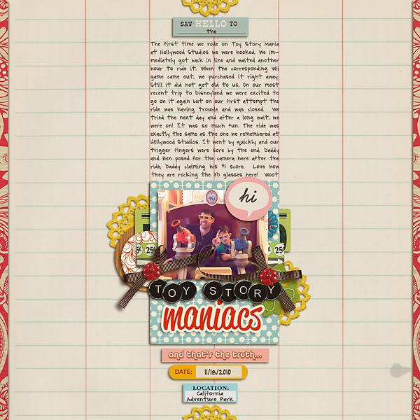 "Digital Scrapbook page created by carolee featuring ""Grandma's Dresser"" by Sahlin Studio"
