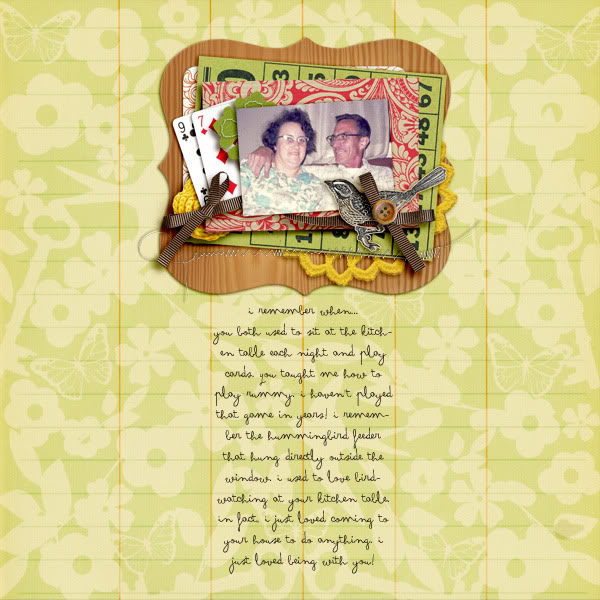 "Digital Scrapbook page created by becca1976 featuring ""Grandma's Dresser"" by Sahlin Studio"