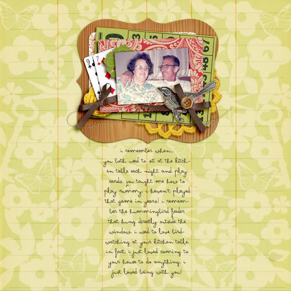 "Digital Scrapbook page created by becca1976 featuring ""Grandma's Dresser"" by Sahlin Studio"