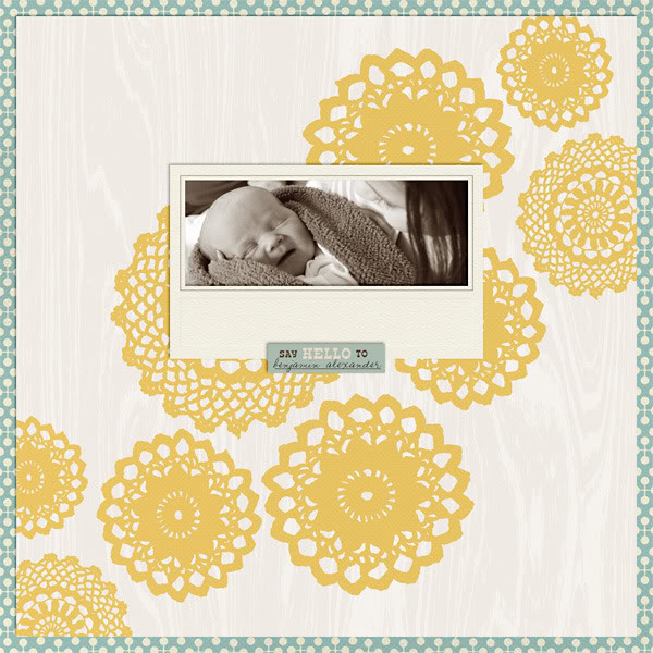 "Digital Scrapbook page created by nicoleseitler featuring ""Grandma's Dresser"" by Sahlin Studio"