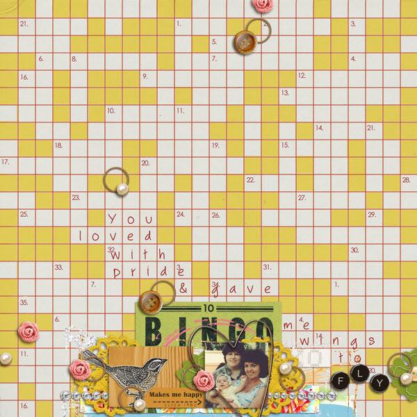 "Digital Scrapbook page created by brynnmarie featuring ""Grandma's Dresser"" by Sahlin Studio"