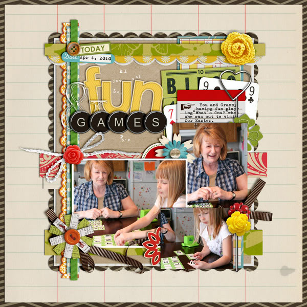 "Digital Scrapbook page created by cindys732003 featuring ""Grandma's Dresser"" by Sahlin Studio"