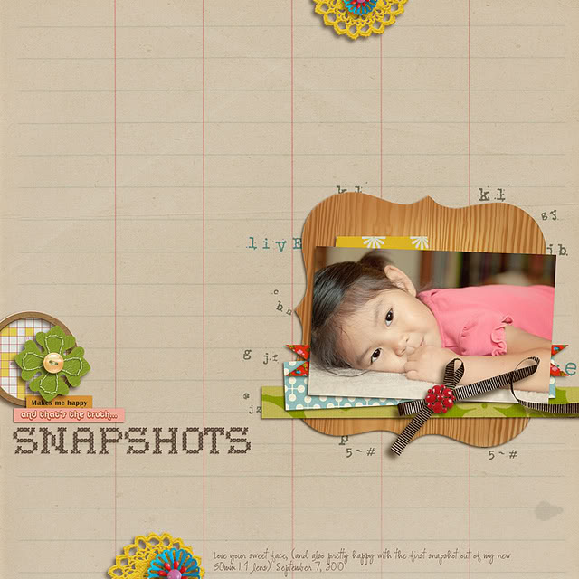 "Digital Scrapbook page created by mlewis featuring ""Grandma's Dresser"" by Sahlin Studio"