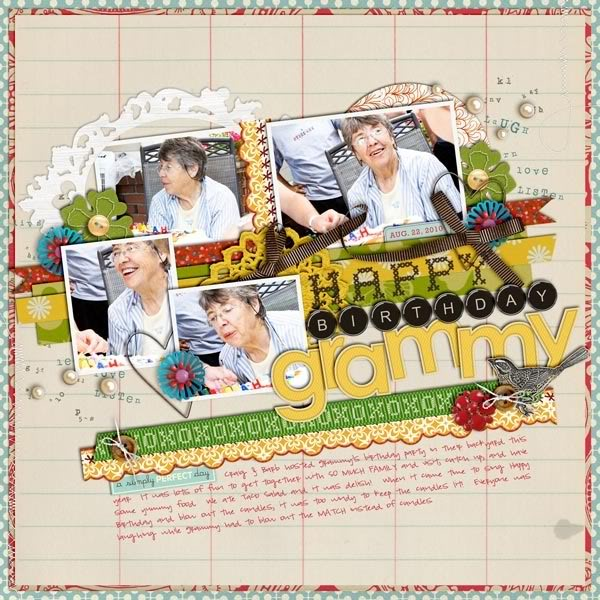 "Digital Scrapbook page created by britt featuring ""Grandma's Dresser"" by Sahlin Studio"