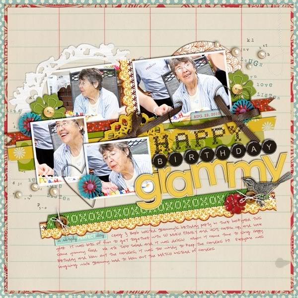 "Digital Scrapbook page created by britt featuring ""Grandma's Dresser"" by Sahlin Studio"
