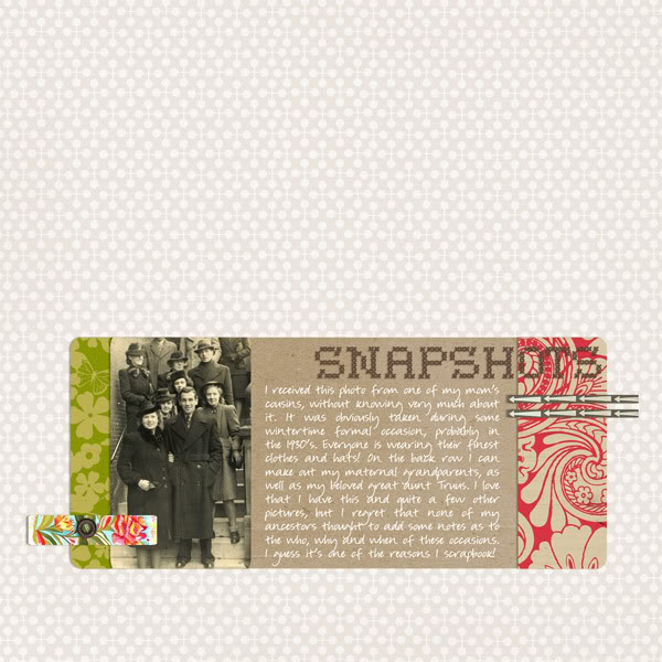 "Digital Scrapbook page created by monsu featuring ""Grandma's Dresser"" by Sahlin Studio"