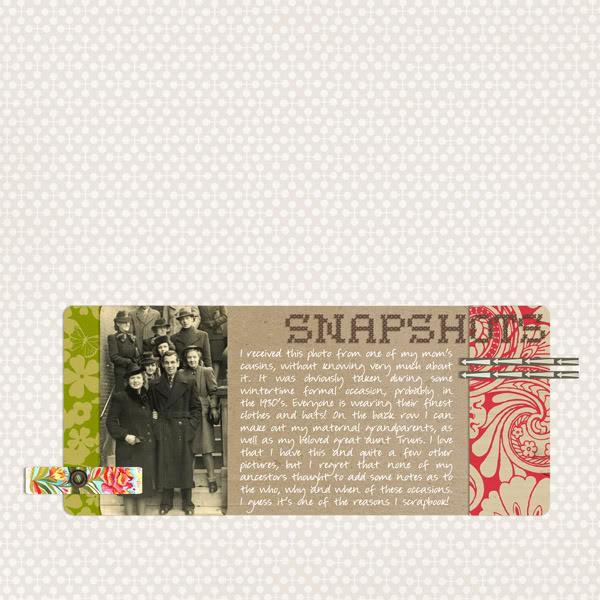 "Digital Scrapbook page created by monsu featuring ""Grandma's Dresser"" by Sahlin Studio"