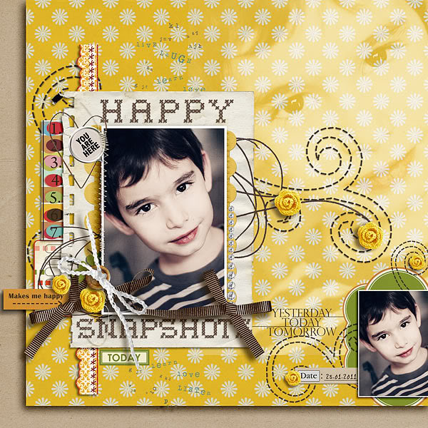 "Digital Scrapbook page created by damayanti featuring ""Grandma's Dresser"" by Sahlin Studio"