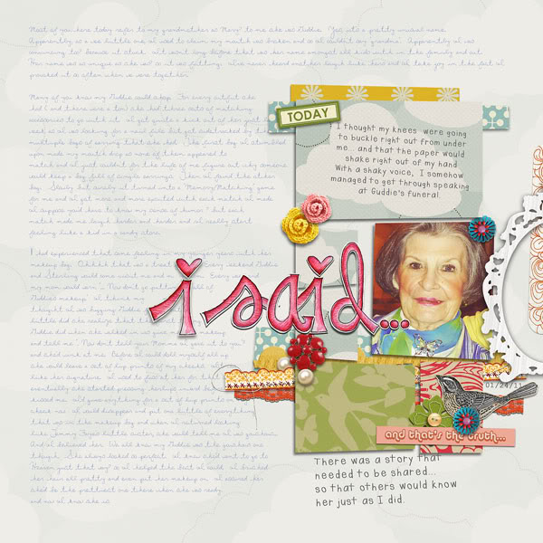 "Digital Scrapbook page created by jenj featuring ""Grandma's Dresser"" by Sahlin Studio"