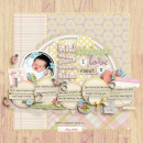 digital scrapbook layout featuring I'll Love You Forever (Entire Collection) by Sahlin Studio