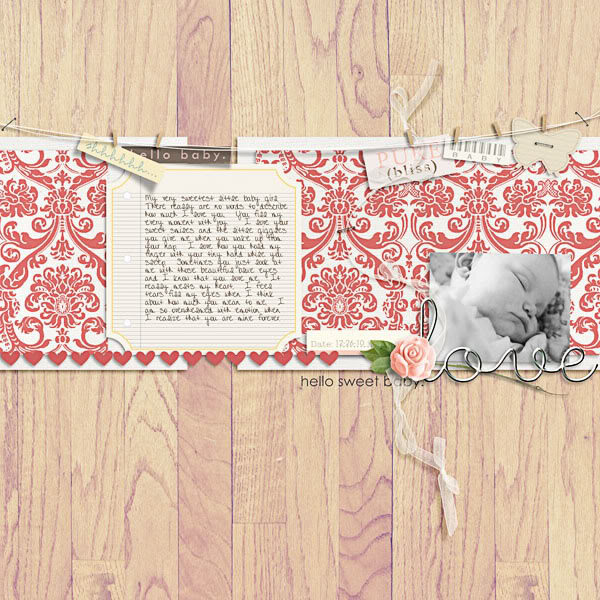 """Digital Scrapbook page created by brendasmith featuring """"I'll Love You Forever"""" by Sahlin Studio"""