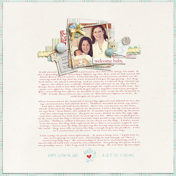 """Digital Scrapbook page created by carolee featuring """"I'll Love You Forever"""" by Sahlin Studio"""