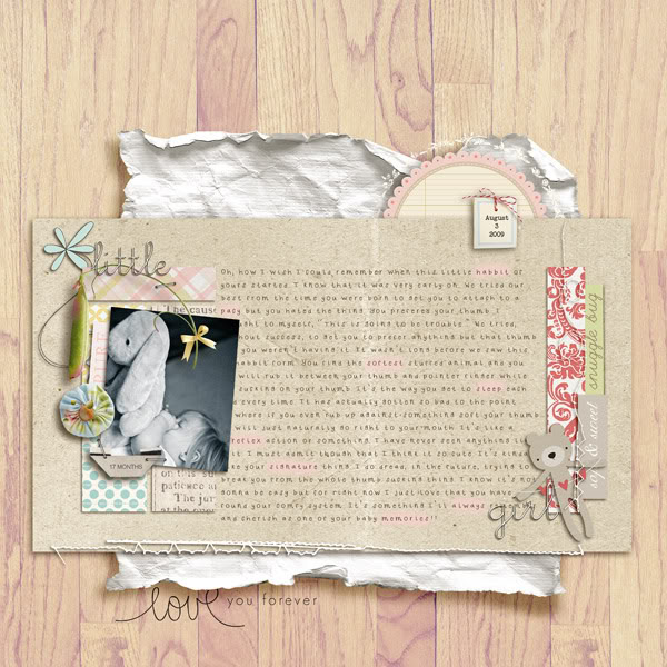 """Digital Scrapbook page created by gracielou featuring """"I'll Love You Forever"""" by Sahlin Studio"""