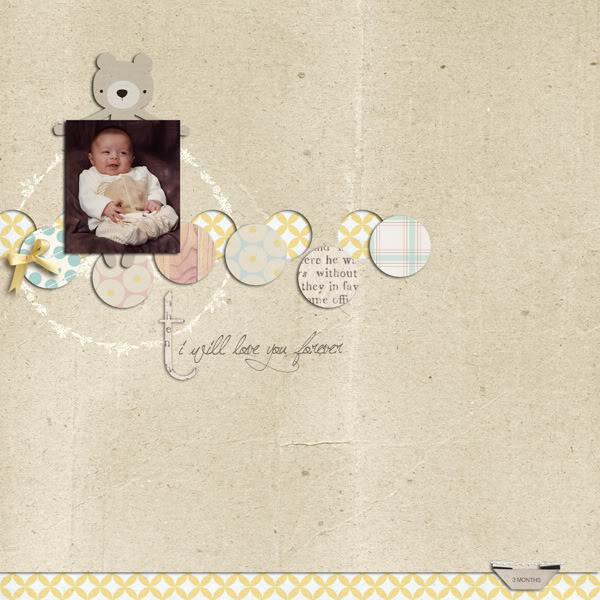 """Digital Scrapbook page created by keela featuring """"I'll Love You Forever"""" by Sahlin Studio"""