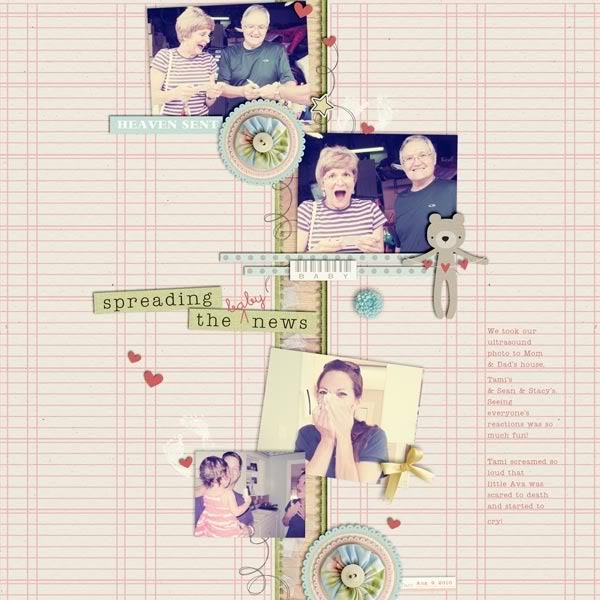 """Digital Scrapbook page created by britt featuring """"I'll Love You Forever"""" by Sahlin Studio"""