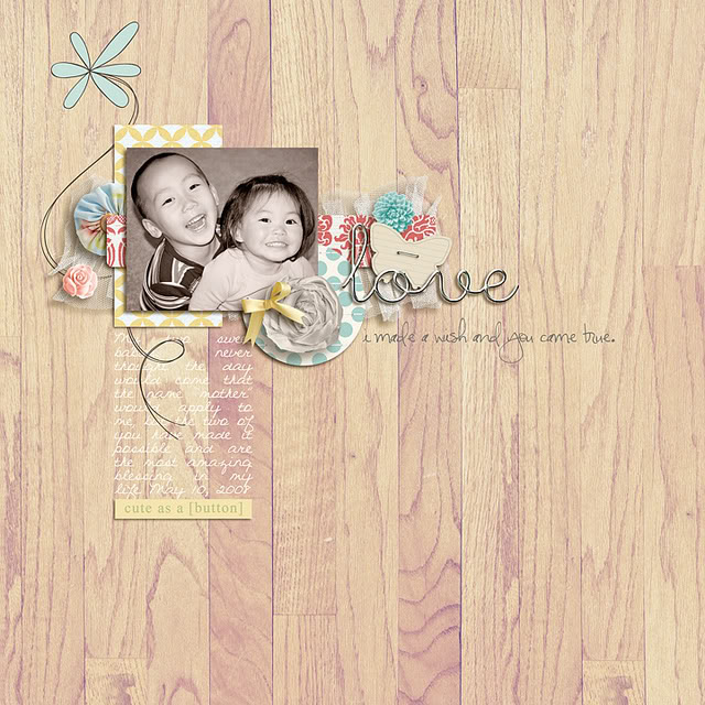 """Digital Scrapbook page created by mlewis featuring """"I'll Love You Forever"""" by Sahlin Studio"""