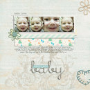 digital scrapbook layout featuring Modern Words: Baby by Sahlin Studio