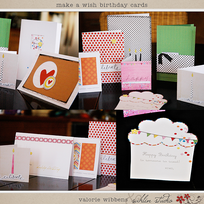 Make A Wish Birthday Cards By Sahlin Studio And Valorie Wibbens