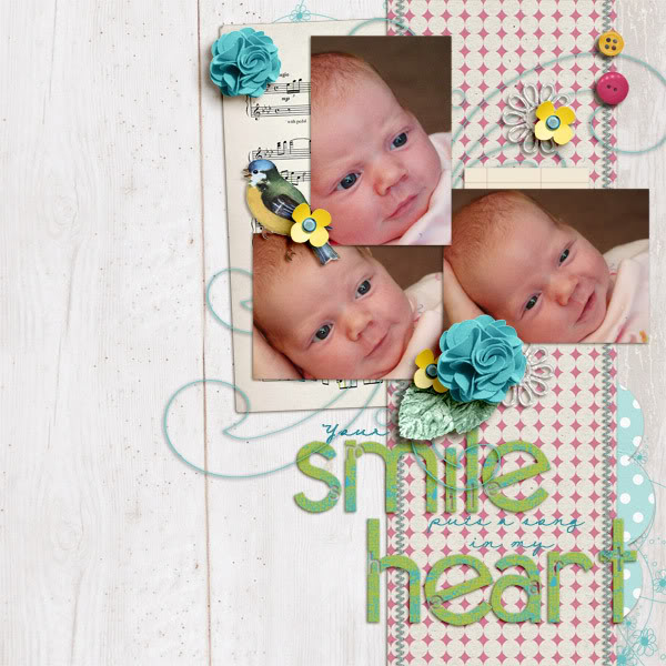 Digital Scrapbook page created by Krista Sahlin featuring products from Sahlin Studio