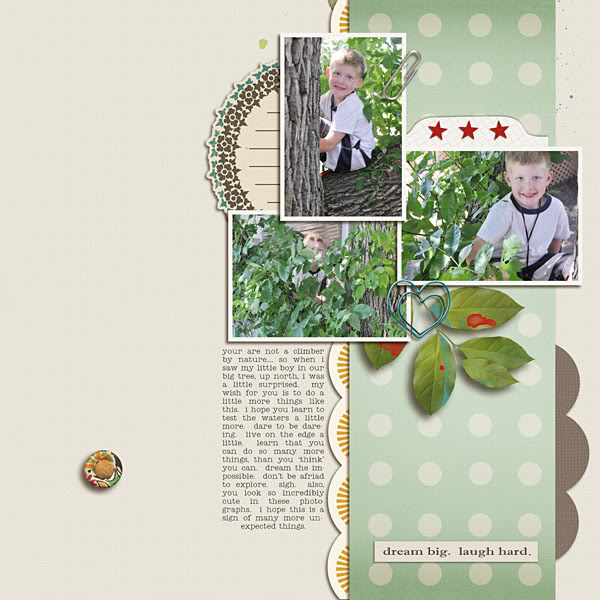 Digital Scrapbook page created by Krista Sahlin featuring products by Sahlin Studio