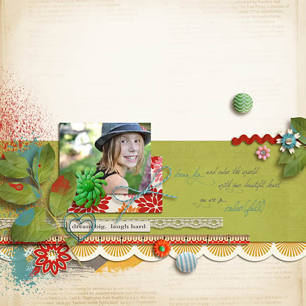"Digital Scrapbook Page created by Krista featuring ""Art & Soul"" by Sahlin Studio"