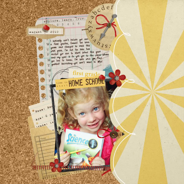 "Digital Scrapbook Page featuring ""Explore. Learn. Grow"" by Sahlin Studio"