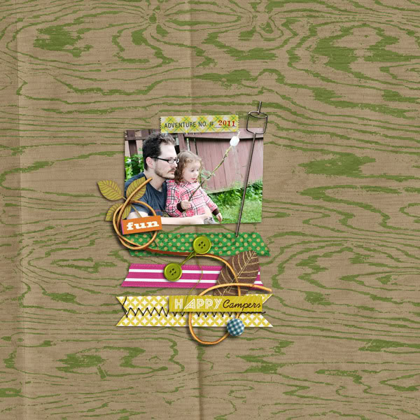 """Digital Scrapbook page created by  jennbarrette featuring """"Summer Camp"""" by Sahlin Studio"""
